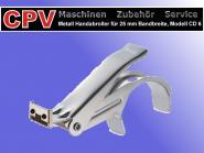 Metall- Handabroller, 25 mm Bandbreite