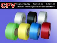 PP- Umreifungsband, Bandbreite: 12 mm, Kern: 200 mm, verschiedene Farben 129 kp/ 3.000 m/ schwarz