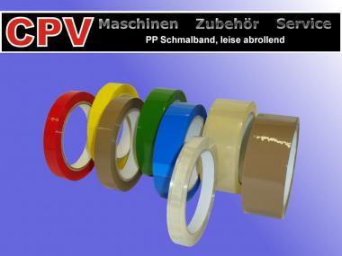 6 x PP Schmalband, 12 mm Bandbreite, Verschiedene Farben