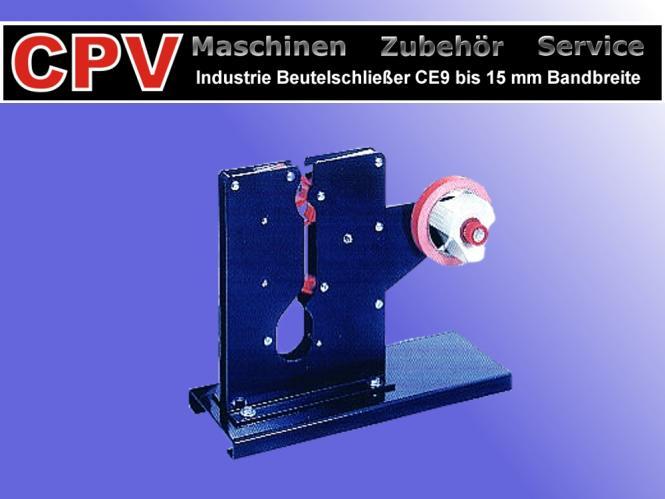 XL Industrie- Beutelschließer, Bandbreiten: bis zu 15 mm, Modell CE9