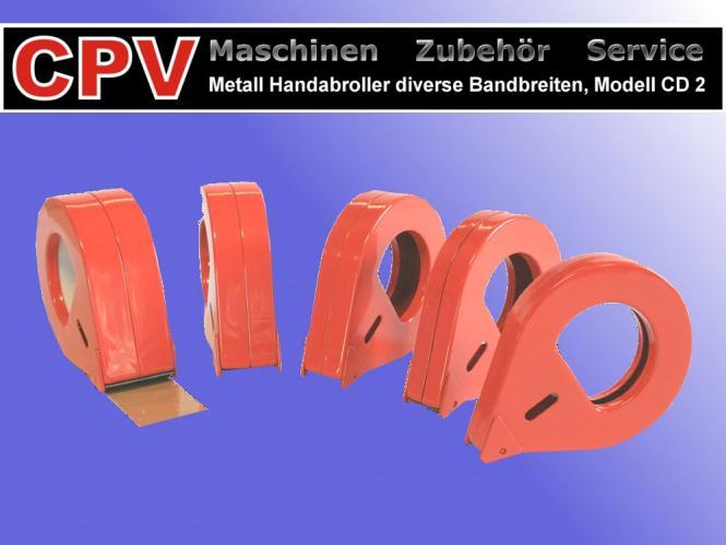 Metall- Handabroller 50 mm Bandbreite